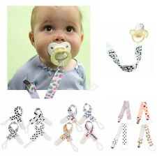 Set of 4 Newborn Infant Baby Toddler Pacifier Holder Strap Chain with Clip Loop