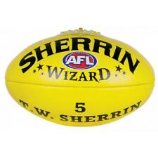 * NEW * Sherrin Wizard Leather Yellow AFL Football