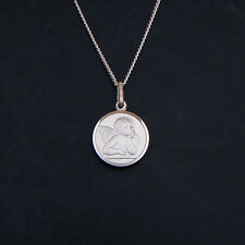 Sterling Silver Cherub Angel 14mm Pendant or Necklace 925 with Gift Box