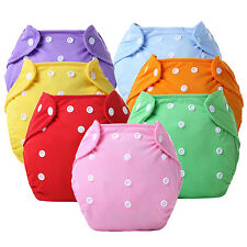 1Pc Reusable Baby Infant Nappy Dotted Cloth Washable Diapers Soft Covers Sturdy