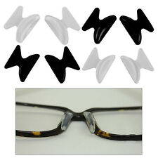 2 Pairs Anti-slip Silicone Nose Pads Stick On Nose Pad For Eyeglasses Glasses UK