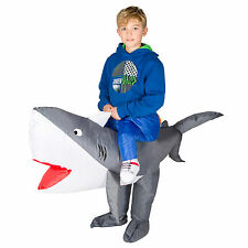 CHILDRENS INFLATABLE SHARK KIDS FANCY DRESS COSTUME OCEAN PARTY OUTFIT