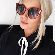 Large Designer Cat Eye Flat Mirror Retro Vintage Women Fashion Sunglasses