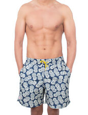 Pcp Men's Bali Men's Blue Swimshorts With Print 100% Polyester