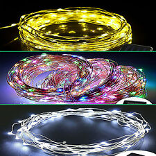 Popular Warm/Warm White/RGB 10M 100 LED Copper Wire LED String Fairy Lights Lamp