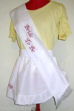 HENS NIGHT 1/2 APRON & SASH SET Avaiable most colours Made to order All occasion