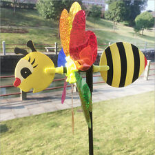 Large Bumble Bee Ladybug Windmill Wind Spinner Whirligig Home Yard Garden Decor