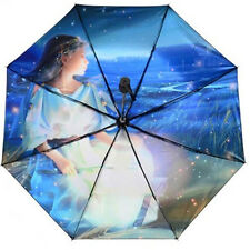 3 Folding Sun Parasol Rain Umbrella 12 constellations Super Anti UV Aries Taurus