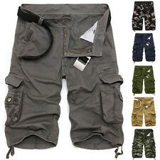 Mens Military Army Combat Trousers Tactical Camo Pants Cargo Shorts Sports Pant
