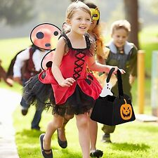 Trick or Treat Children Bag Adorable Stylish Kid Candy Tote Prop Halloween Party