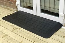 "Rubber Wedge Threshold Ramp, 2"" Threshold Ramp for Double Doors, Sloped Sides"