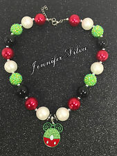 Birthday Mickey Mouse Chunky Bubblegum Necklace