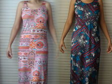 NEW WOMANS LADIES LIGHT SUMMER BEACH HOLIDAY PRINT DRESS SIZES SMALL TO PLUS
