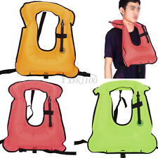 Adult Swimming Vest Inflatable Life Jacket Buoyancy Float Snorkeling Equipment