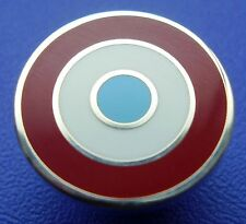MOD TARGET BADGE - IN WEST HAM ICF BURNLEY ASTON VILLA COLOURS 12 16 OR 20MM DIA