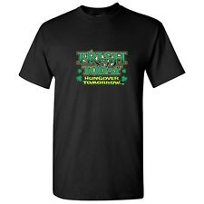 IRISH TODAY HUNGOVER TOMORROW -St.Patricks Drinking Humor Funny Novelty T-Shirts