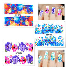 Women Manicure Nail Art Sticker Decal Decoration DIY Tool Flowers Nail Stickers