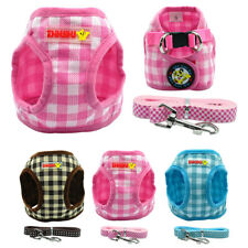Soft Grid Puppy Dog Vest Harness and Lead for Small Dogs Chihuahua Yorkie S-XL