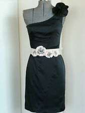 REVIEW STUNNING ONE SHOULDER BLACK DRESS COCKTAIL/WEDDING RRP$279.95**