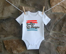 Daddy's LiL Monster Babygrow Bodysuit Baby Clothes New Baby Boy Girl