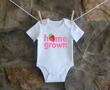 Home Grown Babygrow Bodysuit Cute Baby Clothes New Baby Ideal Gift Boy Girl