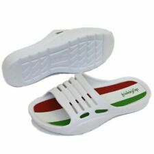 CHILDRENS KIDS WHITE SLIP-ON HOLIDAY CLOGS BEACH SUMMER SANDAL SHOES PUMPS 11-2