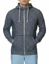 Jack & Jones Men's Men's Blue Melange Sweater With Hood Cotton