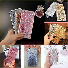 Luxury Glitter Clear Bling Sparkly Silicone Skin Case Cover For Apple iPhone