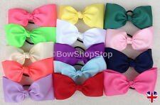 "7"" Large Hair Bow Elastic Bobbles Hair Clip Girl School Cheerleader"
