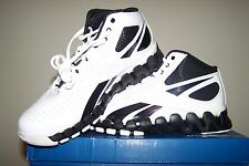 Reebok NEW ZigTech Zig Pro Future White Basketball Shoes with Black Trim