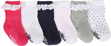 Robeez Infant Girls'   Pretty In Lace Baby Sock 6 Pack (12 Pairs) Pink Size