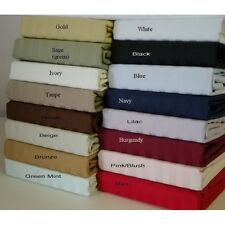 saleHotel Quality Duvet Set With Fitted Sheet 1000TC Egyptian cotton Select Size