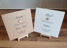 Personalised Best Man/Usher Thank You Card