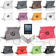 360 Rotating Stand Leather Smart Cover Case for Apple Ipad 2 3 4 Wake/sleep