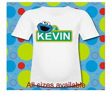 Sesame Street Cookie Monster Dad T Shirt All Sizes Sesame Street Sign Birthday