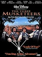 THE THREE MUSKETEERS New DVD 1993 Disney Charlie Sheen