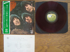 THE BEATLES Rubber Soul JAPAN LP w/ OBI RED WAX Thin Sleeve AP-8156