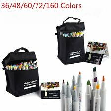 Finecolour 36-160 Colors Set Touch Oily Alcohol Daul Tip Art Crafting Marker Pen