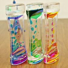 Floating Color Liquid Motion Visual Slim Oil Clock Glass Kids Toy Timer Acrylic