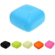 Portable Travel Home Shower Office Soap Dish Lock Case Holder Container Lock Box