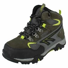 Boys NEPAL WP JR Charcoal/Grey/Limoncello Lace Up ankle Boots By Hi Tec £12.99