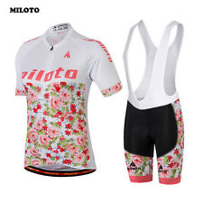 Womens Cycling Clothes Jersey Sets Bib Shorts Racing Mountain Bike Girls Bicycle