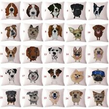 Cute Animals Pet Dog Pattern Cushion Cover For Sofa Home Decor Almofadas 45X45cm