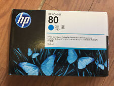 Genuine HP #80 Cyan Ink C4846A  Designjet 1050c 1050c Plus 1055cm 1055cm Pl