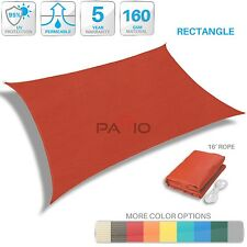 Sun Shade Sail Red Rectangle Outdoor UV Block Canopy Patio Lawn Pool Deck Yard