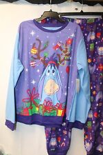 CUTE NEW WOMENS PLUS SIZE 3X EEYORE CHRISTMAS HOLIDAY 2PC PAJAMAS PAJAMA PJ SET