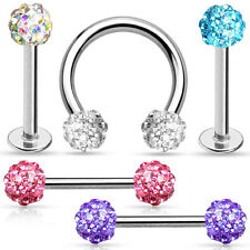 Ferido multi crystal nose septum lip piercing Labret Nipple Intimate Tragus Ear
