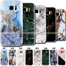 Silicone Marble Shell Various Case Soft TPU Gel Rubber Skin Cover For Samsung
