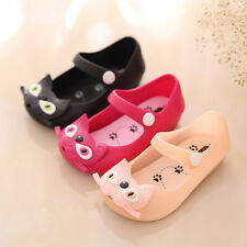 Summer Children Kids Girls Baby Toddler Sandals Soft Cat Jelly Shoes Ankle Strap