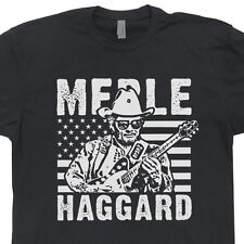 Merle Haggard T Shirt Vintage Country Rock Retro Concert Music Outlaw Tee